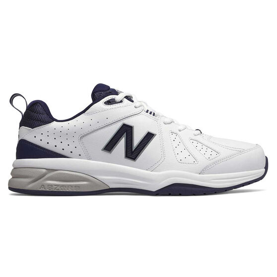New Balance 624 V4 2E Mens Cross Training Shoes, White / Navy, rebel_hi-res