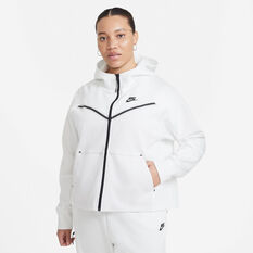 Nike Womens Windrunner Tech Fleece Full Zip Hoodie White XS, White, rebel_hi-res