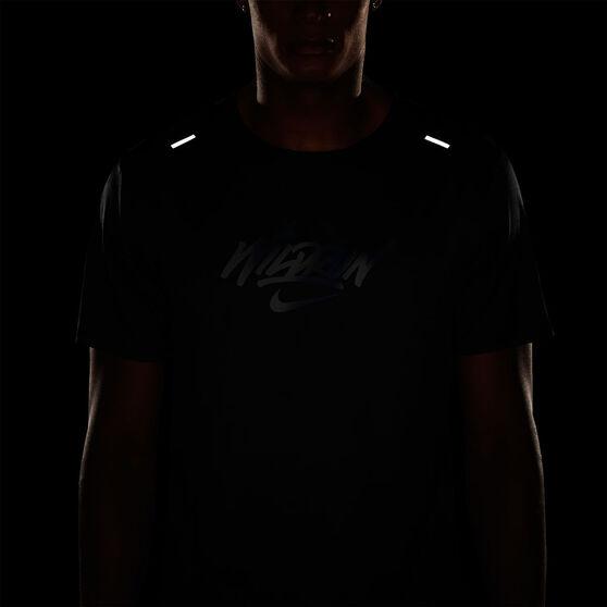 Nike Mens Rise 365 Wild Run Graphic Tee, Black, rebel_hi-res