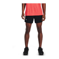 Under Armour Mens Launch 5inch Running Shorts, Black, rebel_hi-res