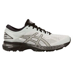 Asics GEL Kayano 25 2E Mens Running Shoes White / Black US 7, White / Black, rebel_hi-res