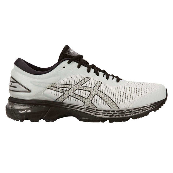 Asics GEL Kayano 25 2E Mens Running Shoes, White / Black, rebel_hi-res