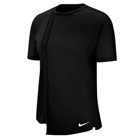 Nike Womens Rebel Running Tee, Black, rebel_hi-res