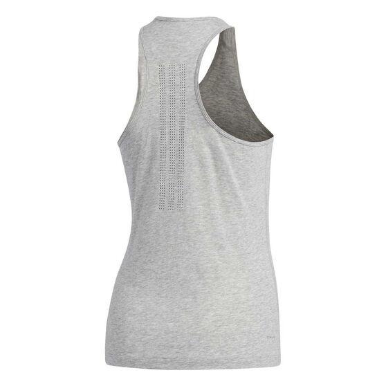 adidas Womens Prime 3 Stripes Tank, Grey, rebel_hi-res