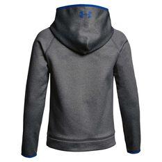 Under Armour Boys Armour Fleece Big Logo Hoodie Grey / Blue XS, Grey / Blue, rebel_hi-res