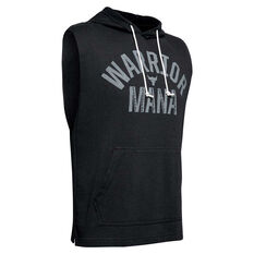 Under Armour Mens Project Rock Terry Sleeveless Hoodie Black XS, Black, rebel_hi-res