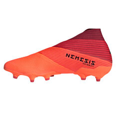 adidas Nemeziz 19+ Football Boots Coral/Black US Mens 8.5 / Womens 9.5, Coral/Black, rebel_hi-res