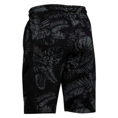 Under Armour Boys Project Rock Terry Shorts Black / Grey XS, Black / Grey, rebel_hi-res