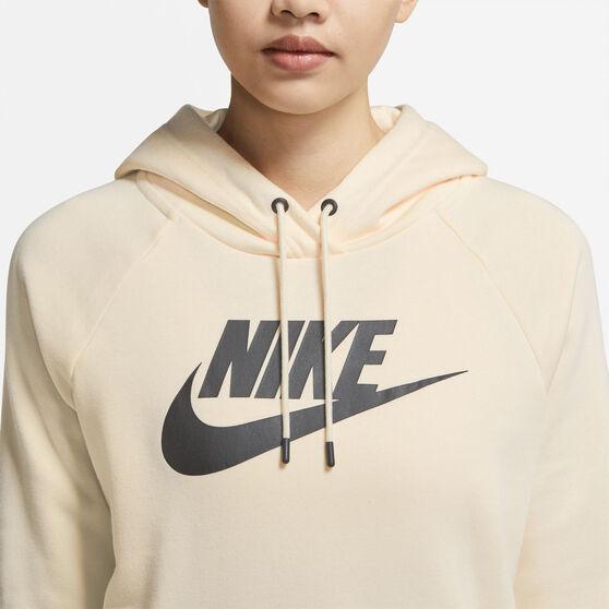 Nike Womens Sportswear Essential Fleece Pullover Hoodie, White, rebel_hi-res