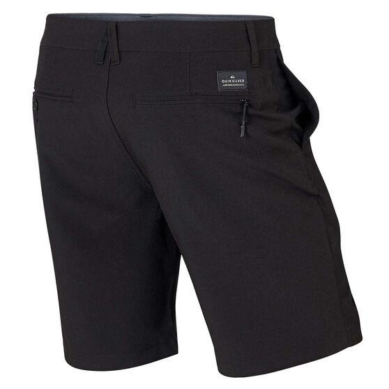 Quiksilver Mens Union Amphibian 19 inch Board Shorts Black 30, Black, rebel_hi-res