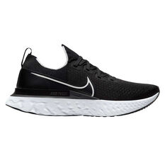 Nike React Infinity Run Flyknit Mens Running Shoes Black/White US 7, Black/White, rebel_hi-res