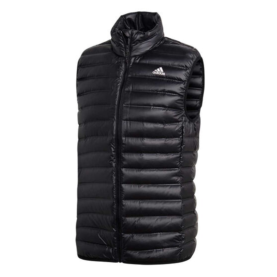 adidas Mens Varilite Down Vest, Black, rebel_hi-res