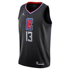 Nike Los Angeles Clippers Paul George 2020/21 Mens Statement Edition Swingman Jersey Grey S, Grey, rebel_hi-res