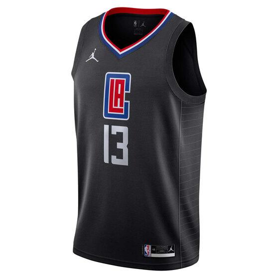 Jordan Los Angeles Clippers Paul George 2020/21 Mens Statement Edition Swingman Jersey, Grey, rebel_hi-res