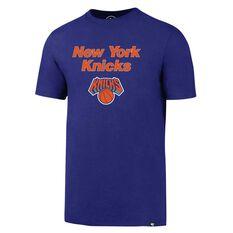 47 Brand Mens New York Knicks Splitter Tee Purple S, Purple, rebel_hi-res