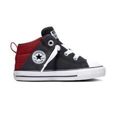 Converse Chuck Taylor All Star Street Toddlers Casual Shoes Black / Red US 4, Black / Red, rebel_hi-res