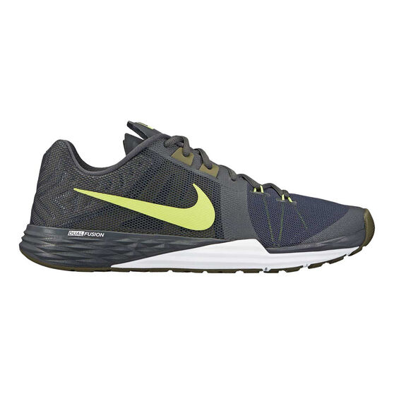 f2a0ac0bf9658 Nike Prime Iron DF Mens Training Shoes Grey   Volt US 9