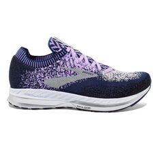 Brooks Bedlam Womens Running Shoes Purple / Navy US 6, Purple / Navy, rebel_hi-res