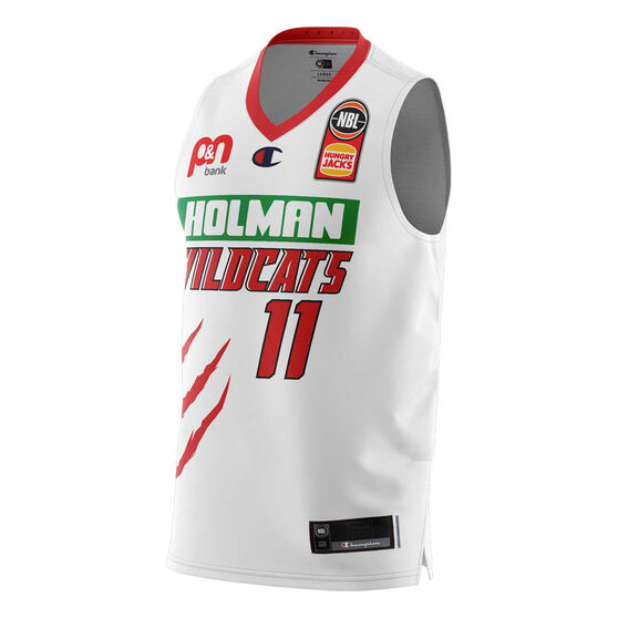 Perth Wildcats Bryce Cotton 20/21 Mens Away Jersey, White, rebel_hi-res