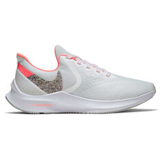 Nike Air Zoom Winflo 6 Womens Running Shoes White / Orange US 6, White / Orange, rebel_hi-res