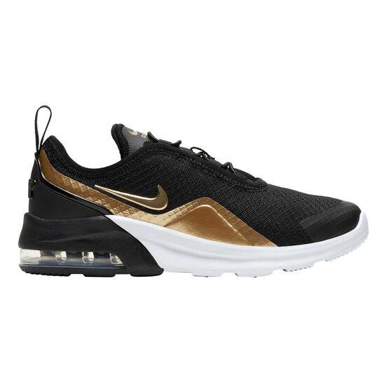 Nike Air Max Motion 2 Kids Casual Shoes, Black / Gold, rebel_hi-res