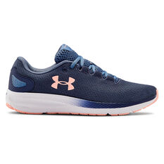 Under Armour Charged Pursuit 2 Womens Running Shoes Blue / White US 6, Blue / White, rebel_hi-res
