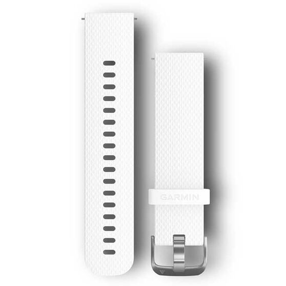 Garmin Quick Release 20mm White / Silver Watch Band 2 sizes, , rebel_hi-res