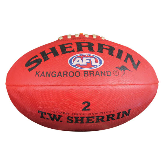 Sherrin Synthetic Australian Rules Ball Red 2, , rebel_hi-res