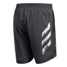 adidas Mens Run It 3-Stripes Shorts Grey XS, Grey, rebel_hi-res