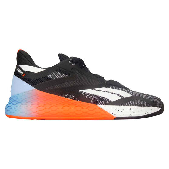 Reebok Nano X Mens Training Shoes, Black/White, rebel_hi-res