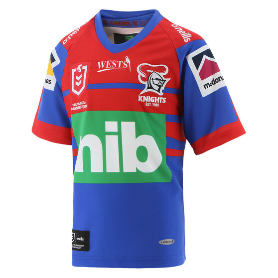 Newcastle Knights 2021 Mens Home Jersey, Blue/Red, rebel_hi-res