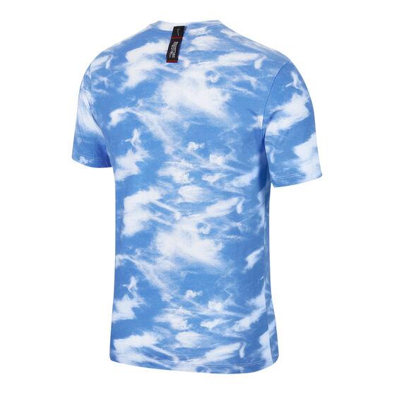 Nike Mens DNA Basketball Tee, White / Blue, rebel_hi-res