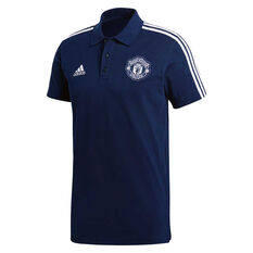 Manchester United FC 2018 / 19 Mens 3-Stripes Polo Shirt, , rebel_hi-res