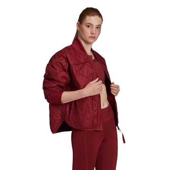 adidas Womens Karlie Kloss Light Padded Jacket, Red, rebel_hi-res