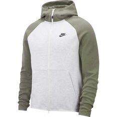 Nike Mens Sportswear Tech Fleece Hoodie Green / White XS, Green / White, rebel_hi-res