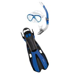 Mares Marlin Volo Snorkel Set Blue S / M, Blue, rebel_hi-res