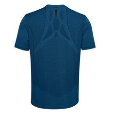 Under Armour Mens Rush Seamless Fitted Tee Blue S, Blue, rebel_hi-res