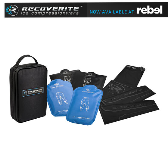 Recoverite Mens Recovery Kit including Ice/Heat Pack Technology, Black, rebel_hi-res