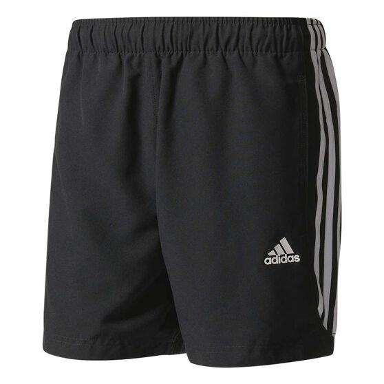 adidas Mens Essentials 3-Stripe Chelsea 5in Shorts, Black / White, rebel_hi-res