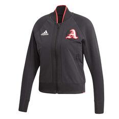 adidas Womens VRCT Jacket Black XS, Black, rebel_hi-res