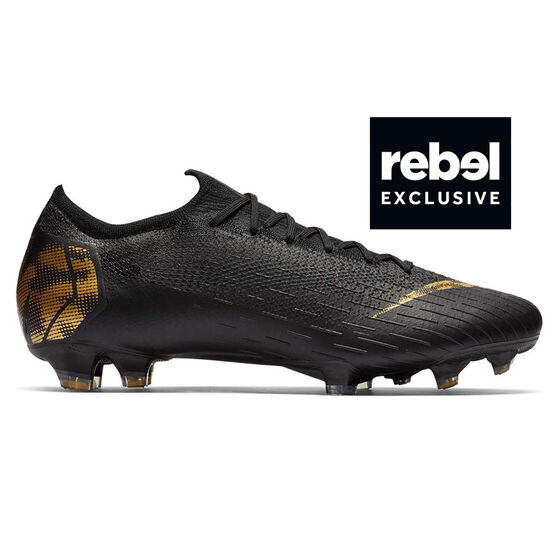 best sneakers 701cb 1392d Nike Mercurial Vapor XII Elite Mens Football Boots, Black  Gold,  rebelhi-res