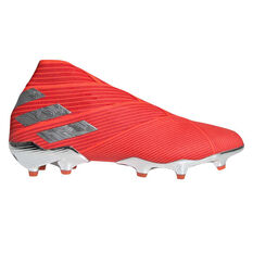 337d0c13e17 adidas Nemeziz 19+ Football Boots Red   Silver US Mens 7   Womens 8