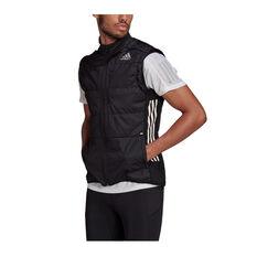 adidas Mens Own The Run 3-Stripes Vest Black S, Black, rebel_hi-res