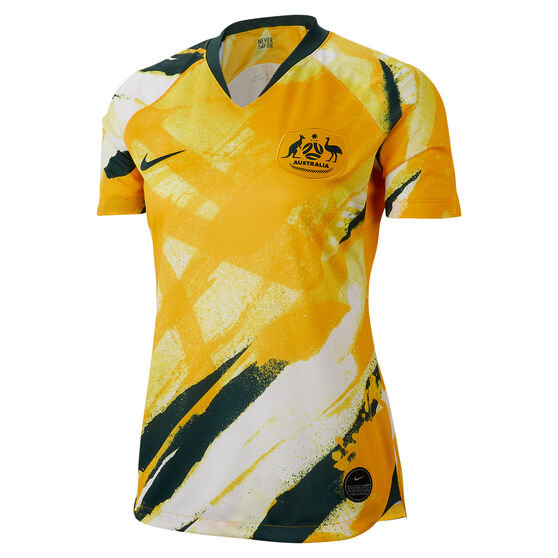Matildas 2019 Womens Home Jersey Yellow XL, Yellow, rebel_hi-res