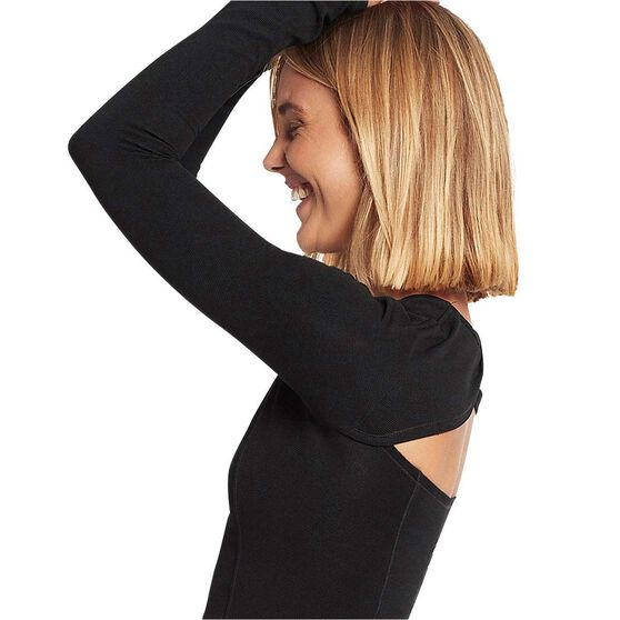 Nimble Womens Extend Long Sleeve Training Top, Black, rebel_hi-res