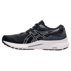 Asics GEL Kayano 28 Womens Running Shoes Black/White US 6, Black/White, rebel_hi-res
