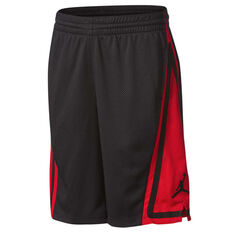 Nike Boys Jordan Franchise Basketball Shorts Black / Red S, Black / Red, rebel_hi-res
