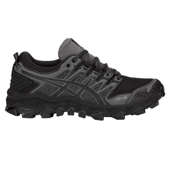 Asics Gel Fuji Trabuco 7 G TX Womens Trail Running Shoes, Black / Grey, rebel_hi-res