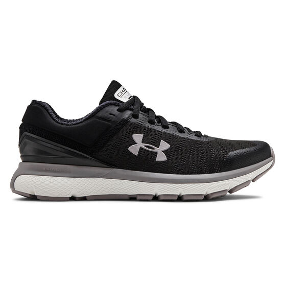 Under Armour Charged Europa 2 Womens Running Shoes, Black / Grey, rebel_hi-res