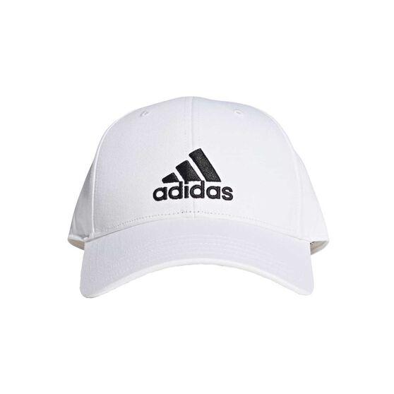 adidas Mens Baseball Cotton Twill Cap White OSFA, White, rebel_hi-res